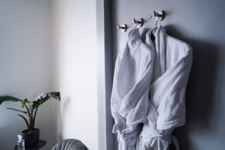 bathrobes, just the two of us, the Pier Suites, Scheveningen
