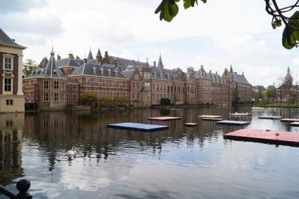 hofvijver, Binnenhof, pond Inner Court, the Hague