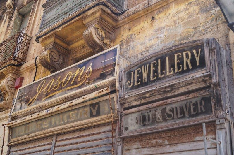 Valletta shop signs