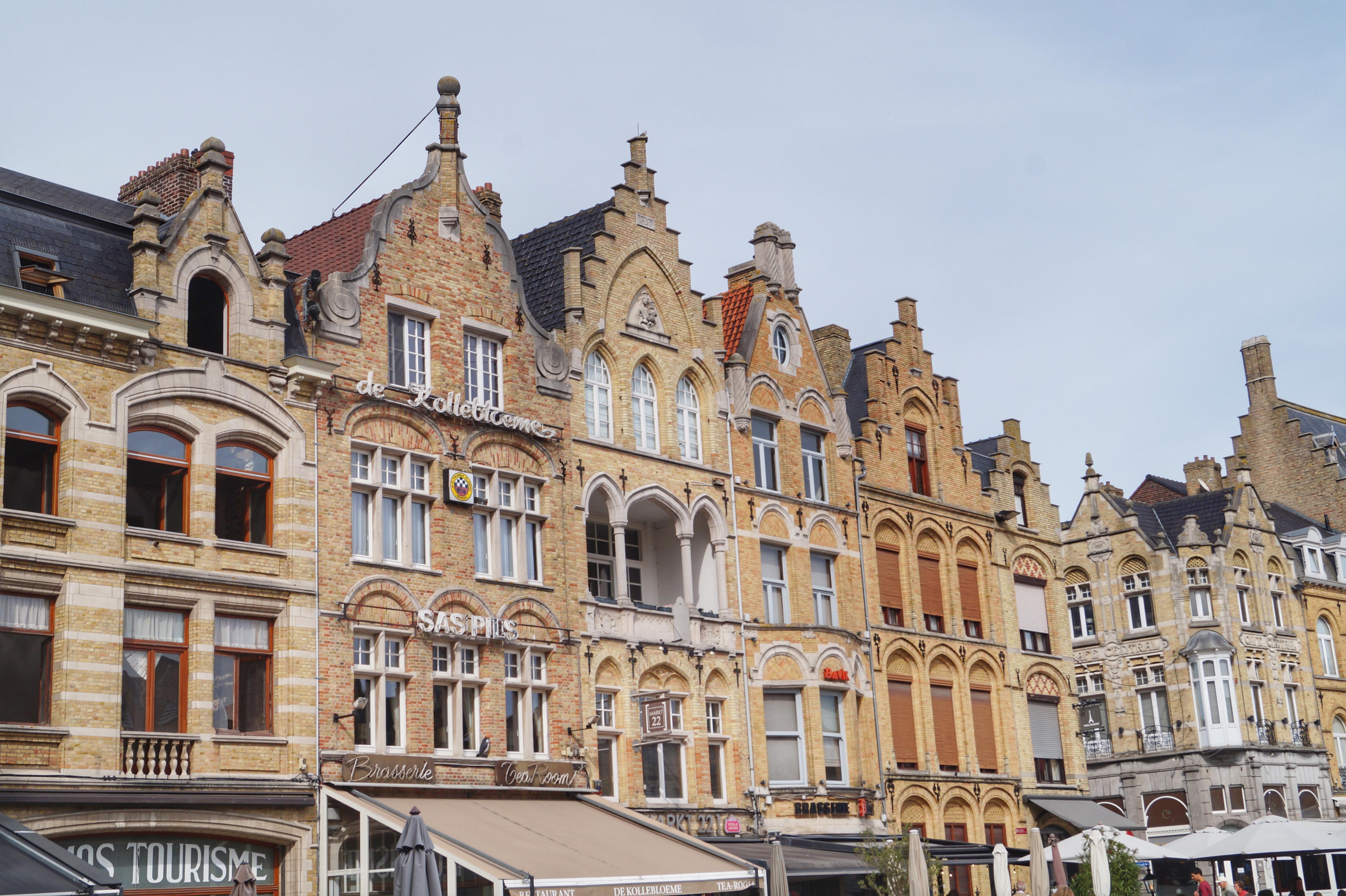 Ypres market square Flanders