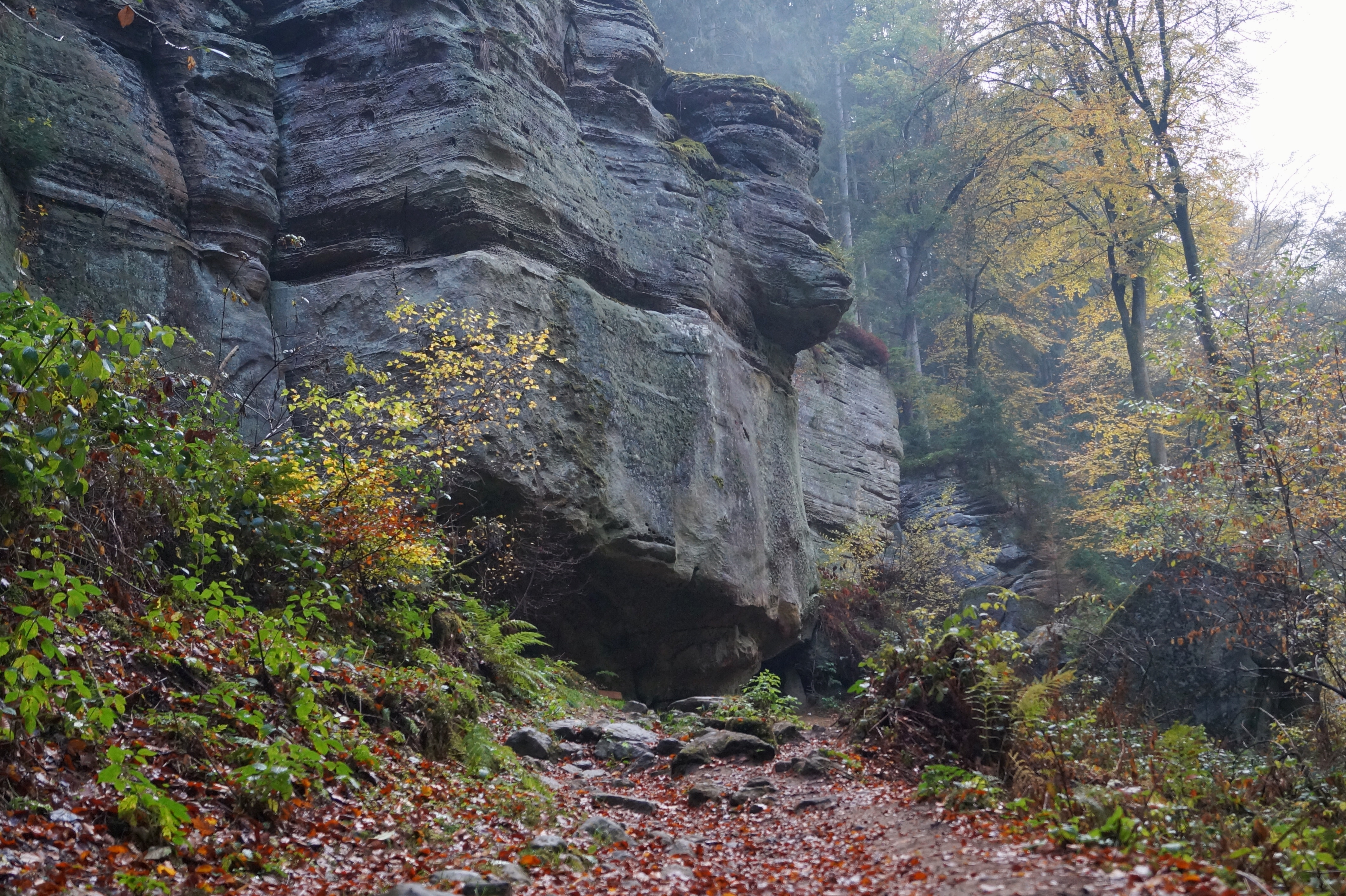 Rock formation Berdorf Mullerthal Luxemburg