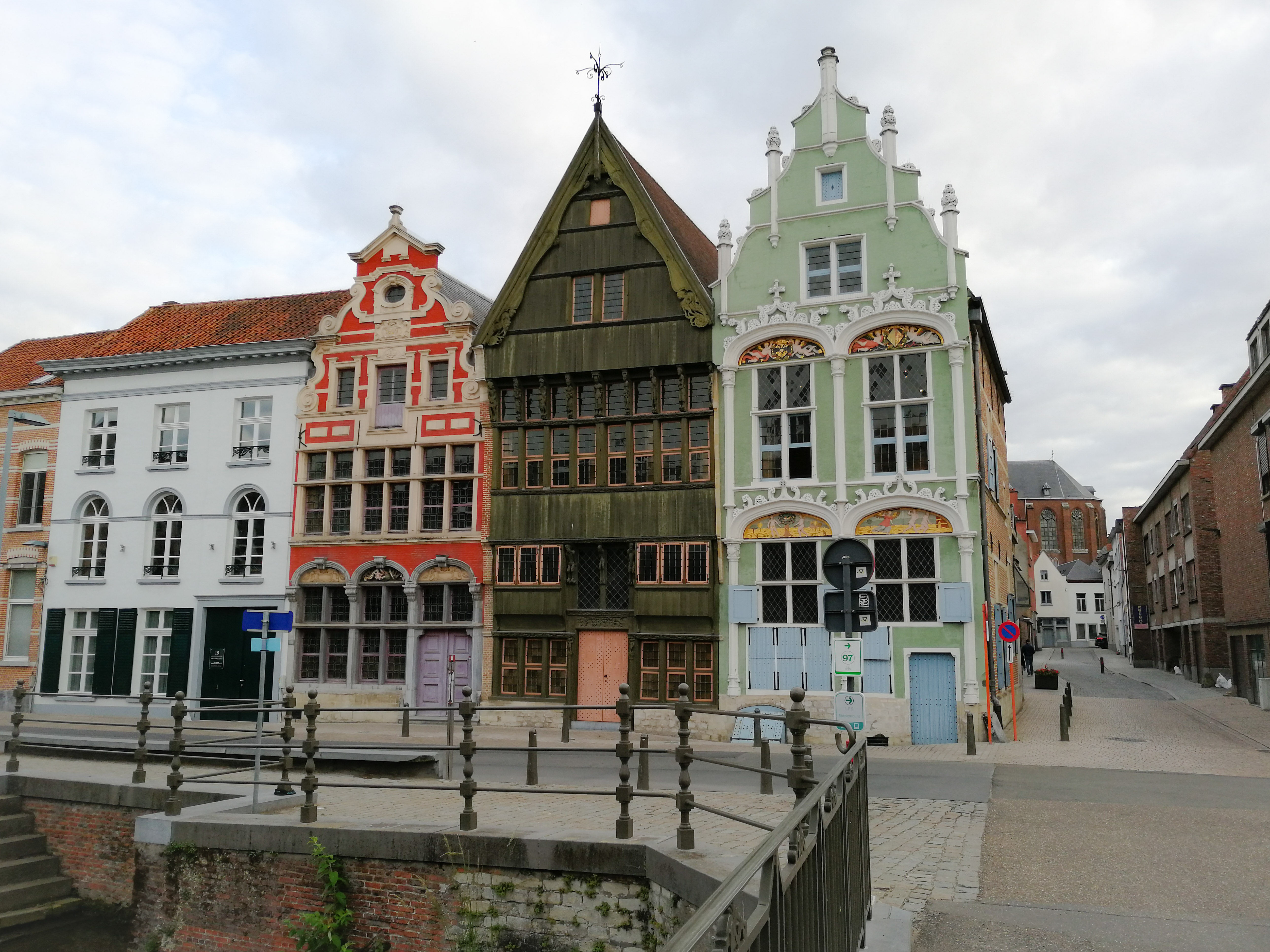 Mechelen colourful facades